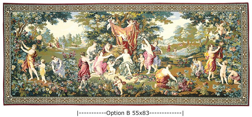 Pastoral Wall Tapestry / Sacrifice To Cybele, 54in X 132in