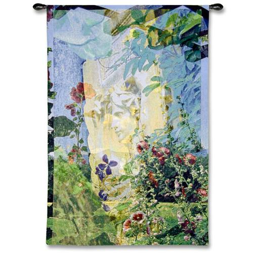 Saint Guadens Contemporary Tapestry Wall Hanging - Abstract Design With Leaves, 35in X 52in