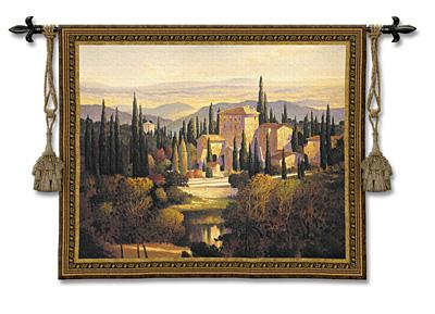 Song Of Tuscany European Landscape Wall Tapestry - Countryside Picture, 53in X 44in