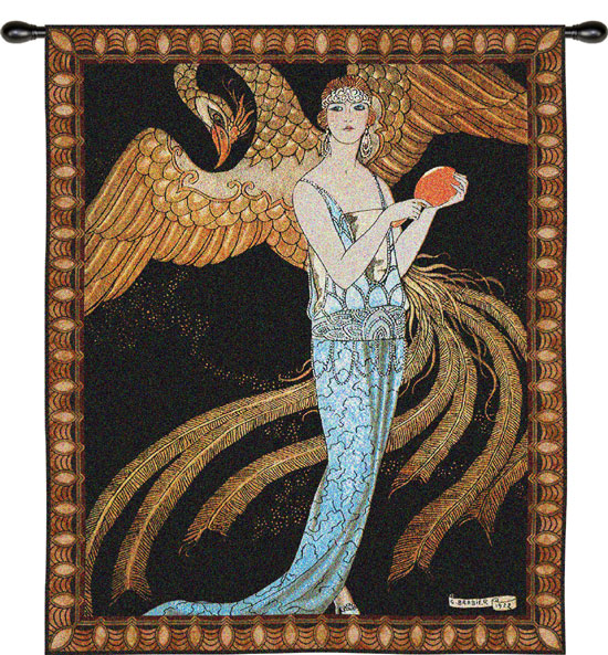 Wall Hanging Art Deco Tapestry : Sortileges tapestry wall hanging h quot w