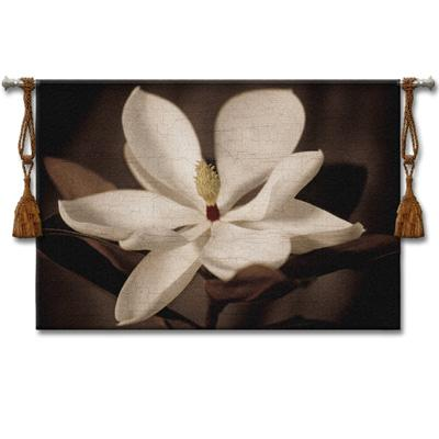 Source II Contemporary Tapestry Wall Hanging - Floral Botanical Design, 53in X 36in