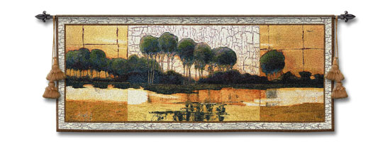 Southern Sunrise Landscape Wall Tapestry - Modern Design, 53in X 21in