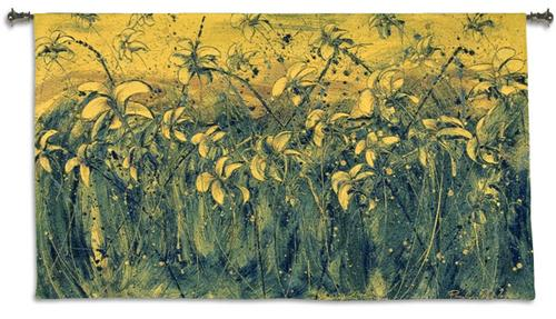 Sparks II Floral Tapestry Wall Hanging - Field Of Flowers, 53in X 31in