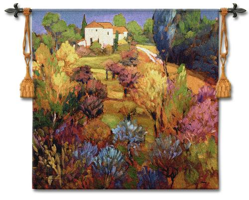 Spring Orchard Tapestry Wall Hanging, 53in X 49in