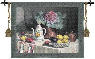 Still Life With Coffee Still Life Wall Tapestry - Fruits Picture, 53in X 42in
