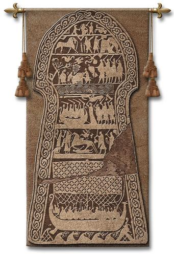 Storahammer Medieval Tapestry Wall Hanging - Bayeaux Style, 26in X 50in