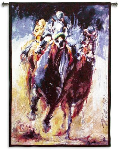 Stretch Cowboy Wall Tapestry - Western Design In Bright Colors, 38in X 53in