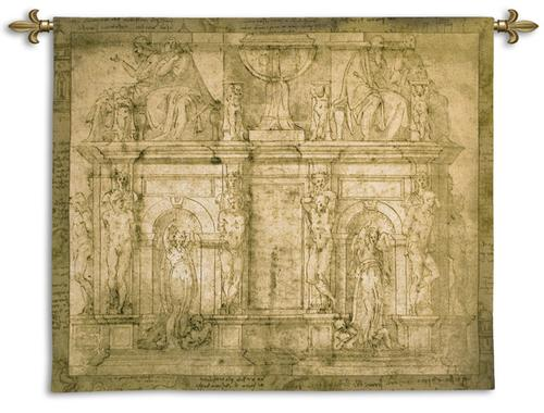 Study For The Porta Pia Ornamental Tapestry Wall Hanging, 76in X 63in