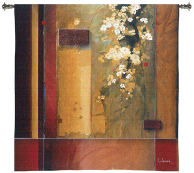 Summer Bloom Modern Tapestry Fine Art Picture, 53in X 53in