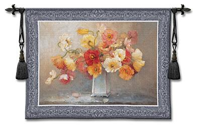 Summer Dreams Still Life Wall Tapestry - Floral Bouquet, 53in X 43in