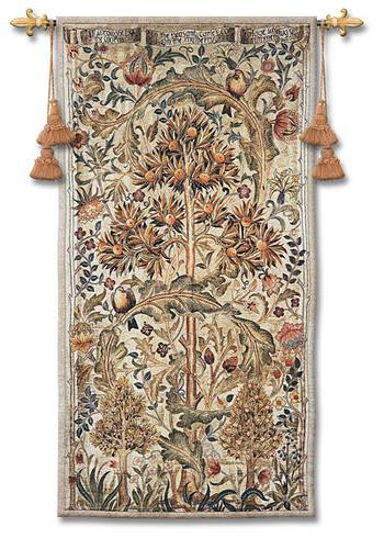 Summer Quince William Morris Tapestry Wall Hanging - Fruit Ornament, 35in X 68in