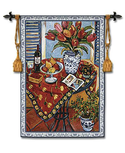 Tangerine Tree Still Life Wall Tapestry, 37in X 53in