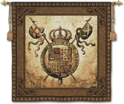 Terra Nova II Ornamental Wall Tapestry, 53in X 53in