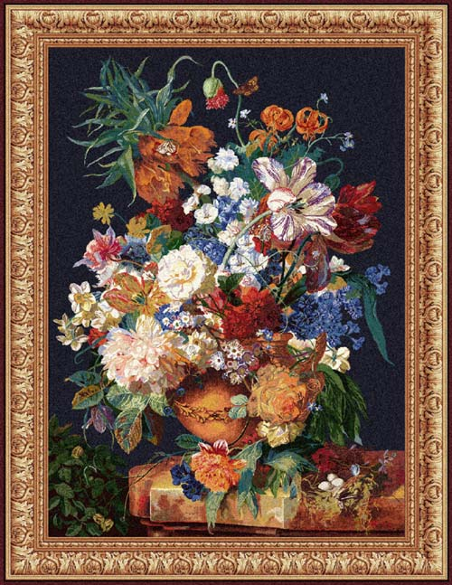 Floral Tapesty Wall Hanging Terracotta, 42in X 32in