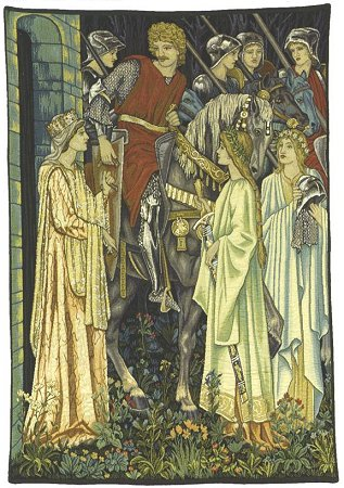 Arthurian Medieval Tapestry The Quest For The Holy Grail - Knight Medieval Pictures, 26in X 22in