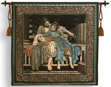 The Music Lesson Tapestry Wall Hanging from a painting by Leighton