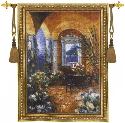 The Veranda Tapestry Wall Hanging, 53in X 76in