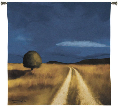 The Way Home Contemporary Tapestry Fine Art Picture, 53in X 53in