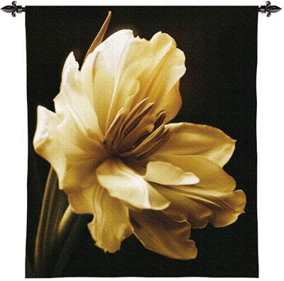 Timeless Grace I Contemporary Tapestry Wall Hanging - Modern Botanica Design, 45in X 53in