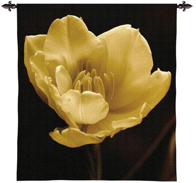 Timeless Grace IV Contemporary Tapestry Wall Hanging - Modern Botanical Design, 45in X 53in