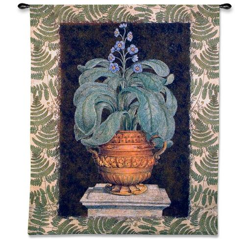 Tropical Urn I Still Life Wall Tapestry, 52in X 66in