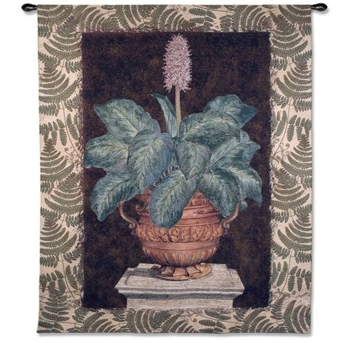 Tropical Urn II Still Life Wall Tapestry, 52in X 66in