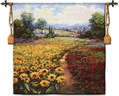 Tuscan Pleasures I Tapestry Wall Hanging, 53in X 53in