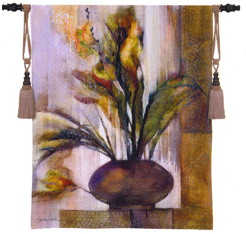 Tuscan Sunlight II Tapestry Wall Hanging - Floral Picture, 42in X 53in