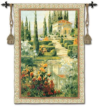 Tuscany Estate European Landscape Wall Tapestry, 42in X 53in