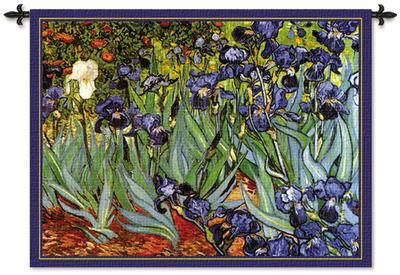 Van Gogh'S Irises Tapestry Wall Hanging, 53in X 38in