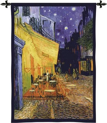 Van Gogh'S Cafe Terrace At Night Tapestry Wall Hanging, 38in X 53in