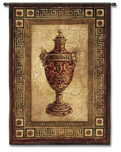 Vessel Of Antiquity I Ornamental Still Life Tapestry Wall Hanging, 39in X 53in