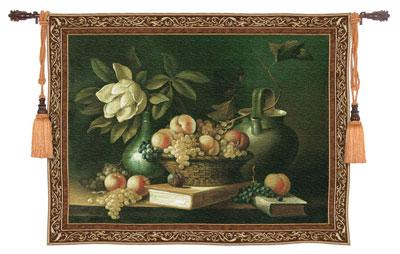 Vianchies Grapes Still Life Wall Tapestry - Flowers & Fruits Picture, 76in X 53in