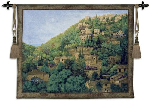 Vista De Deta European Landscape Wall Tapestry - Countryside Picture, 52in X 42in
