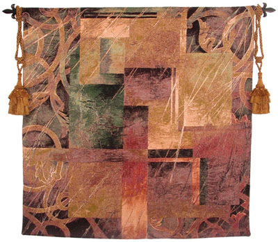 Visual Patterns II Contemporary Tapestry Fine Art Picture, 53in X 53in