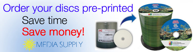 Order your discs pre-printed to save time and money
