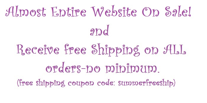 Entire Website on Sale and Free Shipping!