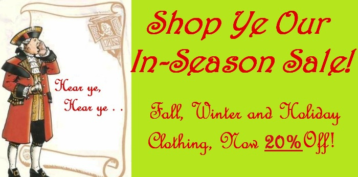Children's fall, winter and holiday clothing.