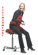Hag Capisco Chair - Sitting Back To Front for ergonomic comfort and versatility