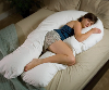 Comfort U Body Pillow For Total Body Support - The Comfort U Body Pillow Cradles Your Body From Head To Foot - A Body Pillow Filled With The Revolutionary Fusion Poly Fiber