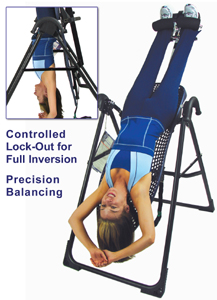 EP-550 Inversion Table features controlled lock-out - Precision Balancing