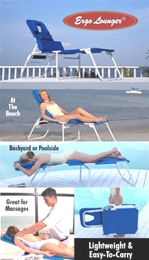 Ergolounger Face Down & Face Up Folding Comfort Lounge Chair