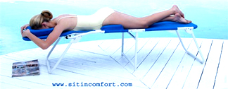 ErgoLounger Beach Lounger For Face Down, Face Up Sitting Comfort at the Beach, Outdoors, Camping, Patio, Poolside