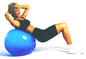 Fitness Ball - Exerflex Exercise Ball - Tone, Tighten, Stretch & Strengthen Your Back & Abdominal Muscles - Stability Ball Exercises For Core Muscle Workouts