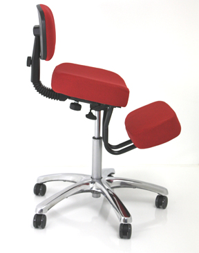 Deluxe JAZZY Kneeling Chair - Jobri Memory Foam Pneumatic Lift Swivel Kneeling Chairs With Back Rest F1446
