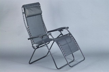 Faulkner Zero Gravity Patio & Camp Chair - Black Mesh - Standard Size