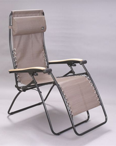 Faulkner Zero Gravity Patio & Camp Chair -Chocolate Mesh - XL Size