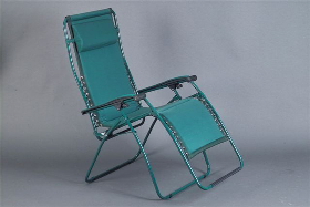 Faulkner Zero Gravity Patio & Camp Chair - Green Padded - Big & Tall Size