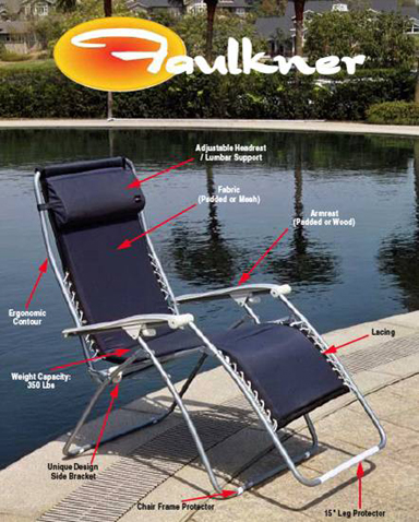 Faulkner Zero Gravity Outdoor Chairs - Quality Zero Gravity Recliners