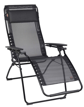 Lafuma Futura Clipper Recliner � Black Mesh Lafuma Outdoor Zero Gravity Recliner